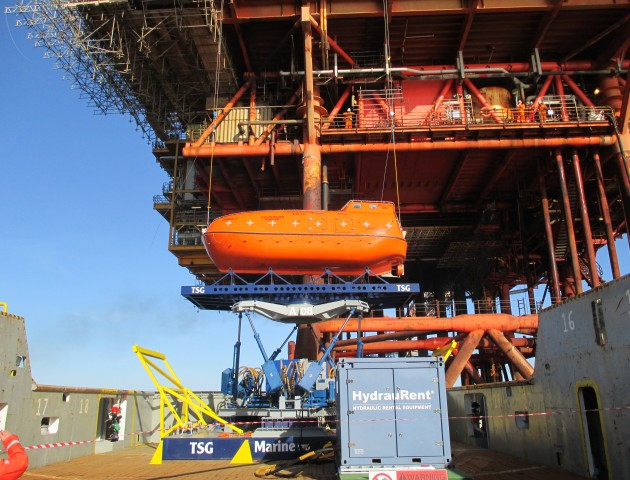 Heave Compensated Lifeboat Installation
